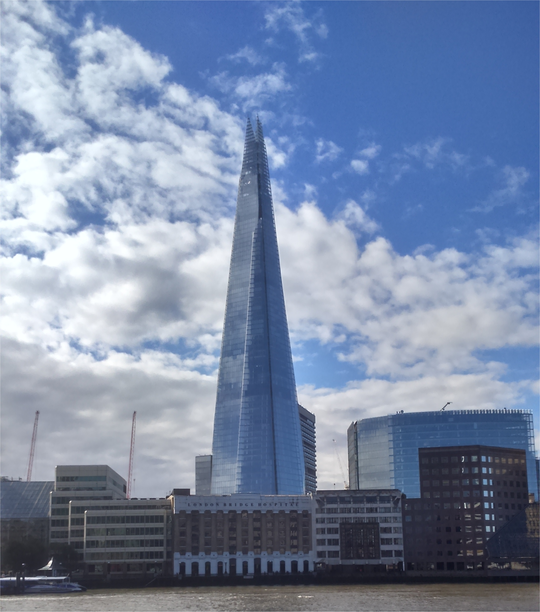 the shard from the opposite bank