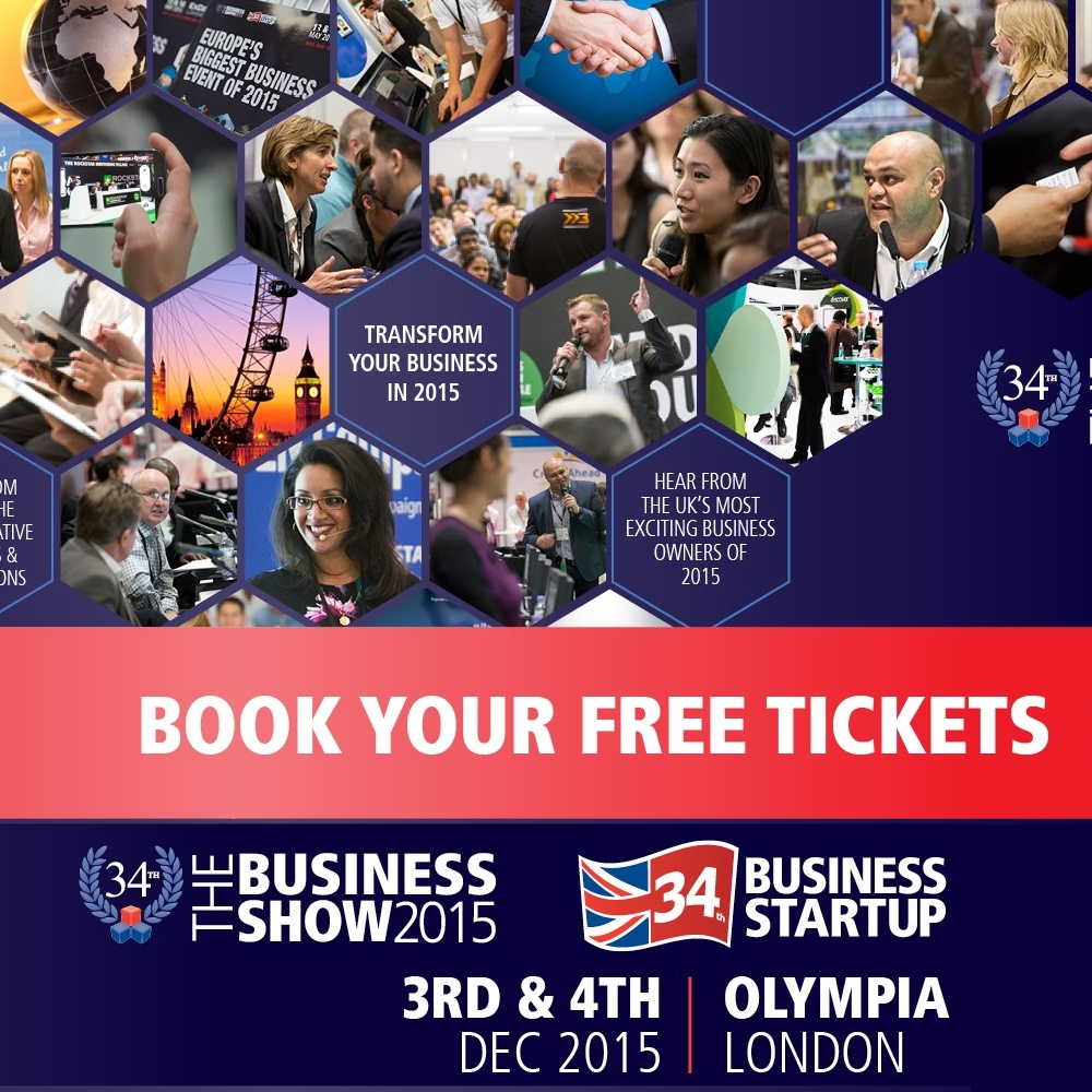 book your free tickets for the business show